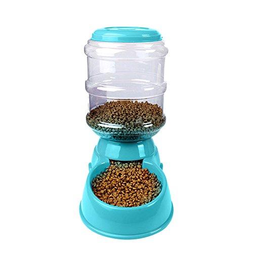 - Festnight-1 Automatic Pet Water Food Dispenser 3.8L Large Capacity Self-Dispensing Gravity Pet Feeder Waterer Cat Dog Feeding Bowl Drinking Water/Automatic Feeding Pet Supplies 1#