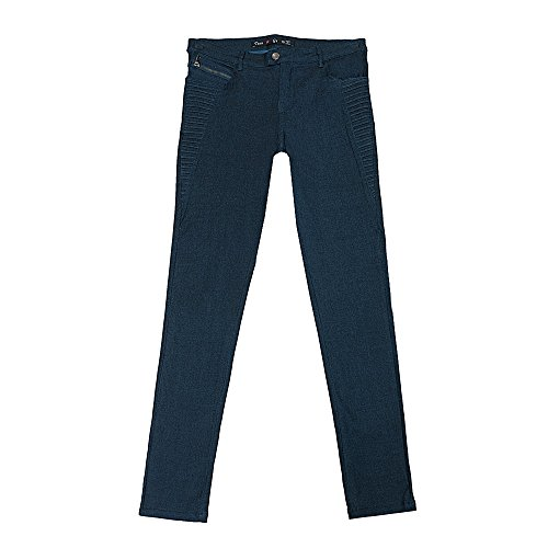 Teen G's Big Girls Uniform Super Stretch Skinny Pants Fashion zipper design KLG104