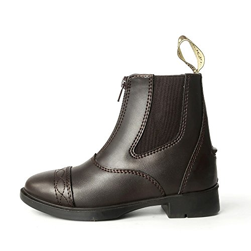 Brogini Unisex Kinder Leder Tivoli Piccino Stiefel mit Reißverschluss Braun