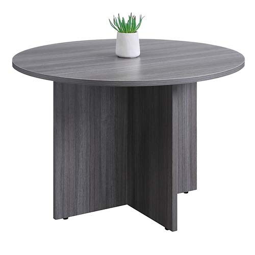 Formation Round Conference Table 42''Dia Gray Laminate by NBF Signature Series