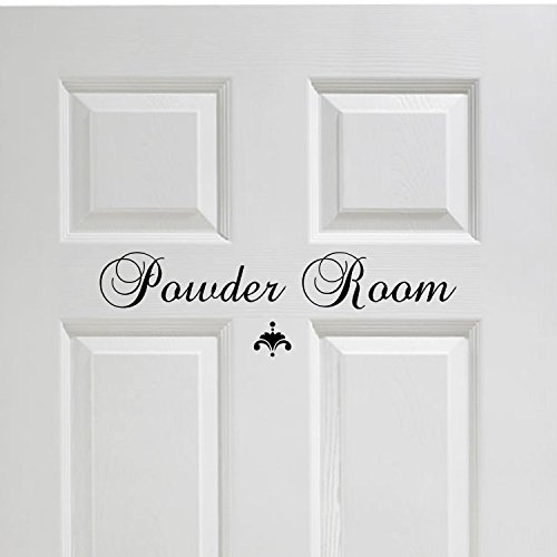 Powder Room Vinyl Decal Bathroom Decor Vinyl Wall Decal Great House Warming  Gift Powder Room Wall Decor © Decal The Walls