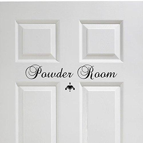 Powder Room Vinyl Decal Bathroom Decor Vinyl Wall Decal Grea