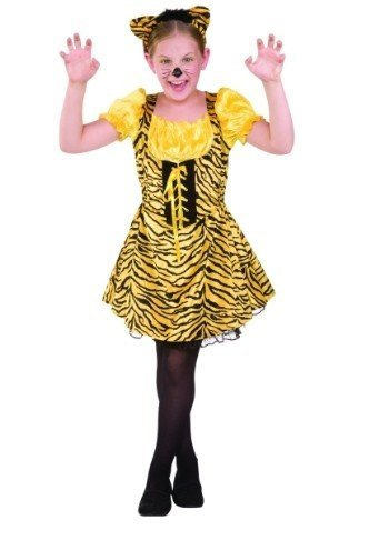 RG Costumes 91383-L Sassy Tiger Child Costume - Size Large