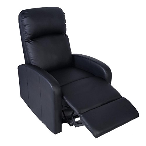 Movie theater chairs home theater chairs manual recliner chair black lounger leather sofa seat Home theater furniture amazon