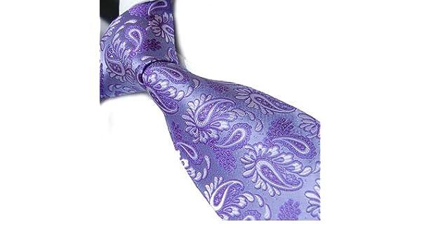Marc-Philippe corbata hecho a mano seda lila y morado de cachemir ...