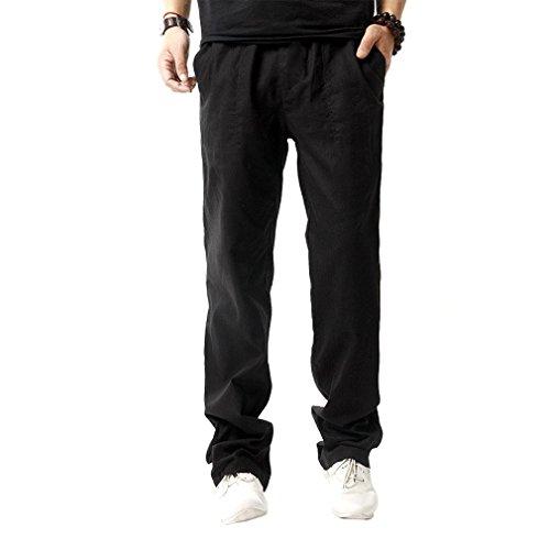 f9fb55ad54dc Jual Hoerev Men Casual Beach Trousers Linen Jean Jacket Summer Pants ...