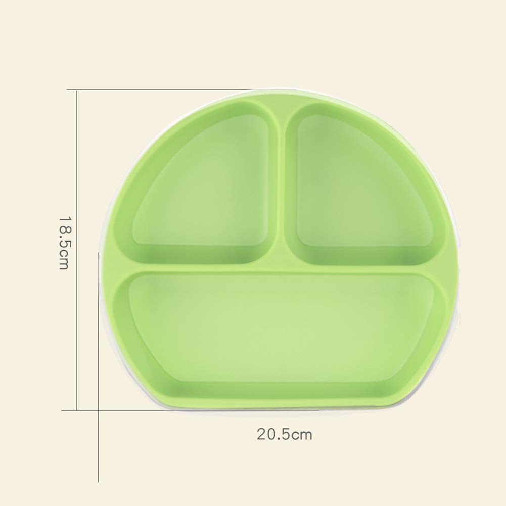 Silicone Suction Plate Stay Put Divided Feeding Bowls for Kids Babies and Infants