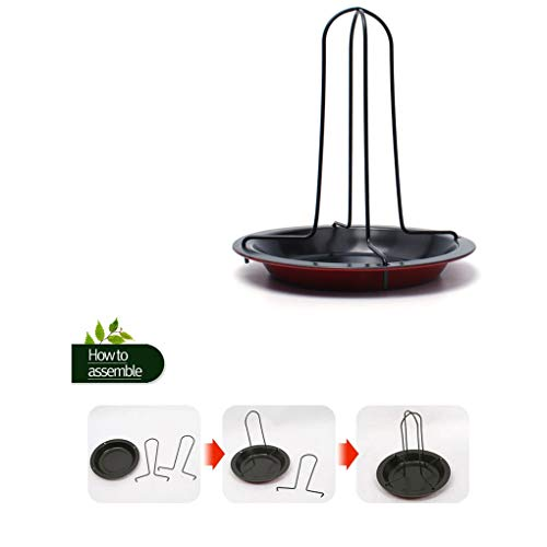 Roaster Rack - Convenience Carbon Steel Diy Bbq Vertical Chicken Duck Grill Baking Roaster Rack Non Stick - Oval Handle Stainless Small Grille Insert Rack Steel Roaster Grill ()