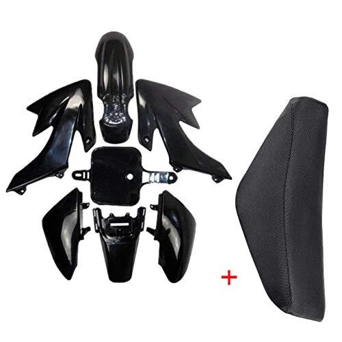 JCMOTO Plastic Body Fairing Kit and Tall Seat For Honda CRF XR CRF50 XR50 50s 50cc 70cc 110cc 125cc Dirt Pit Bike (Black) (Body Fairing Plastic)