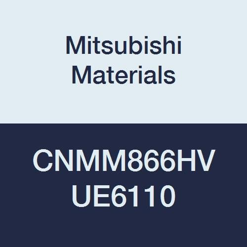 Mitsubishi Materials CNMM866HV UE6110 CVD Coated Carbide CN TYPE Negative Turning Insert with Hole, General Cutting, Rhombic 80°, 1'' IC, 0.375'' Thick, 0.094'' Corner Radius, HV Breaker (Pack of 10) by Mitsubishi Materials