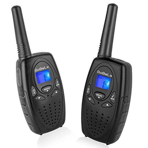 Bobela M880 Easy to use Two Way Radio Transceiver Electronic Toy Walkie Talkies and Festival, Christmas and Halloween Gift for Kids to Hiking, Biking and Other Outdoor Activities(Black, 1 (Kids Toys Channel Halloween)