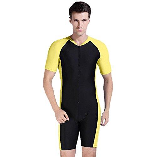 Summer Short Sleeve Swimwear One Piece Swimsuit For Women (Orange) - 1