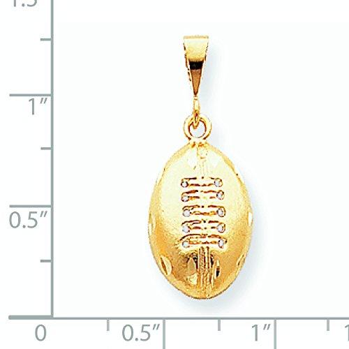 Charm ballon de FOOTBALL de 10 k or supérieure-Grade que JewelryWeb or 9 carats