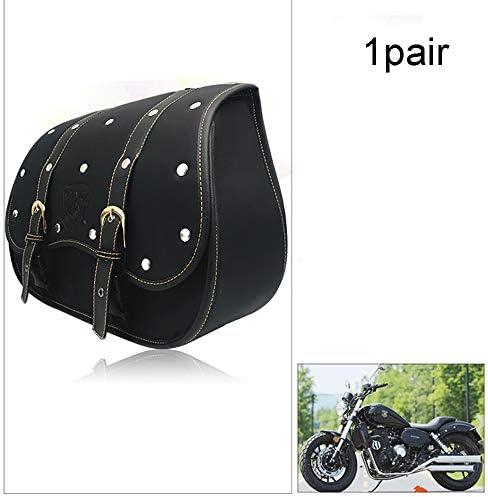 1ペアバイクレザーバッグ-防水バイクサドルバッグパニエ荷物ボックスヘビーデューティープロダクトツーリングクルーザーオートバイバッグ