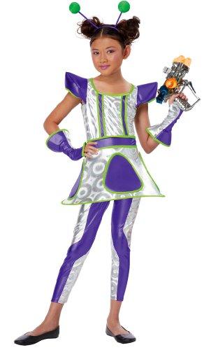 Deluxe Space Alien Costumes (Cosmic Cutie Child Costume - Medium)
