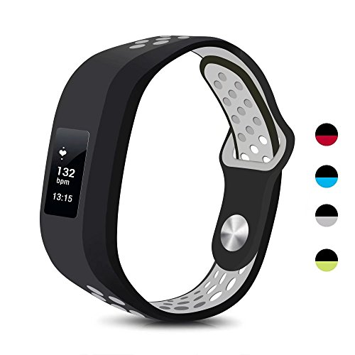 T-BLUER Garmin Vivofit 3/Vivofit JR Case Bands, Silicone Colorful Replacement Wristband Strap for Garmin Vivofit 3 and Vivofit JR with Clasps Fitness Bands Suitable to, No Tracker Included