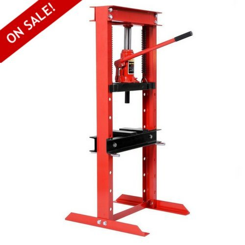 Hydraulic Jack Shop Press Floor Adjustable Heavy Duty Excellent Bending Stand 12 Ton Equipment H-Frame Plates - House Deals (Bottle Jack Press Hydraulic Ton)