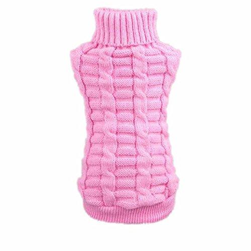 Pets Sweater,Han Shi Clearance Dog Puppy Classic Sweatshirts Hign Neck Warm Clothes Coats