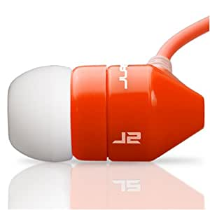 JBuds J2 Premium Hi-FI Noise Isolating Earbuds Style Headphones (Red/White) (Discontinued by Manufacturer)