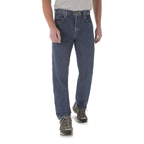 (Wrangler Men's Big and Tall Rugged Wear Relaxed Fit Jeans, Stone, 46W x 28L)