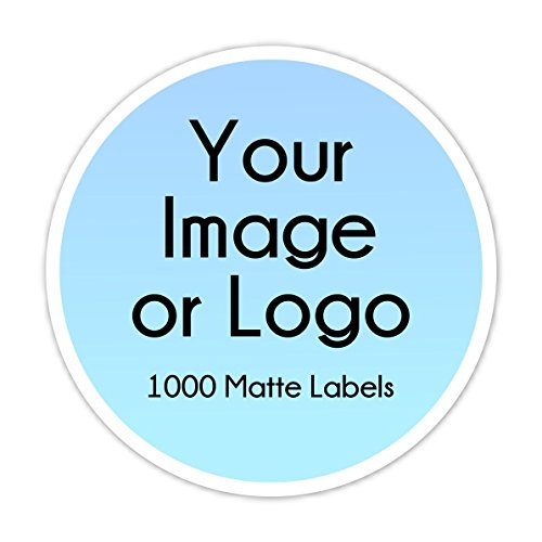 1000 Custom Logo Stickers, Round Logo Labels, Business Labels - available in two size options by Delight Design