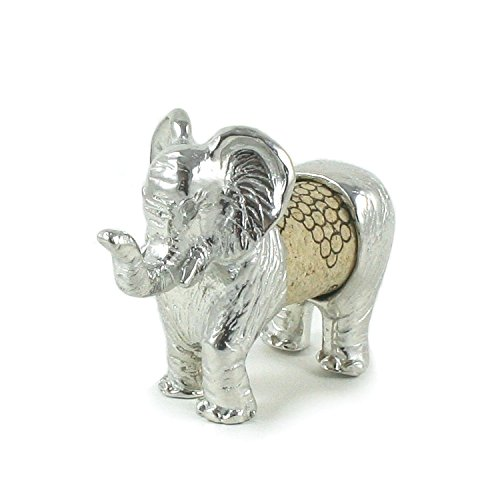Cork Elephant Sculpture - Changeable Wine Cork Display - Gift Boxed - Handcrafted Pewter Made in USA