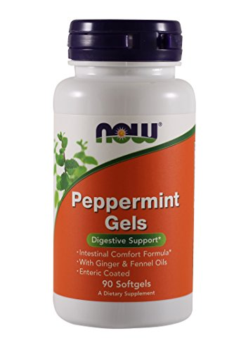 Now Foods Peppermint Gels - 90 softgels (Pack of 3)