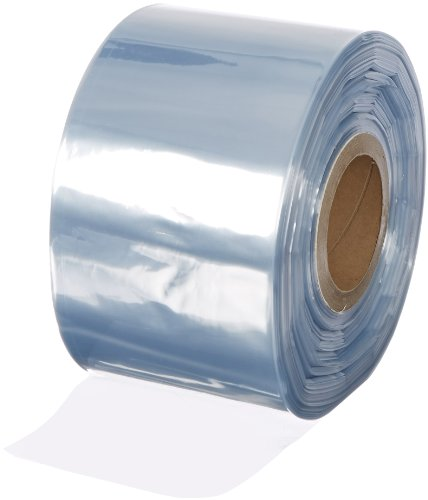 Aviditi SHT5100 Shrink Tubing Film Roll, 1500' Length x 5'' Width, 100 Gauge Thick, Clear by Aviditi