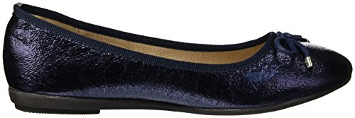 Metallic Navy Ladies XTI Punta Navy Blu Donna Chiusa Navy Shoes Ballerine 7w55azxgq