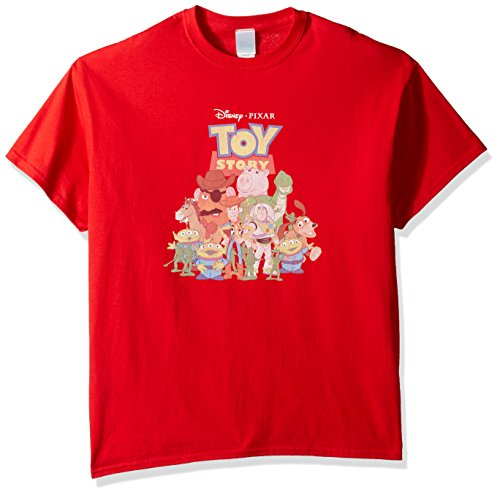 Toy Costumes Story Andy (Disney Men's Toy Story T-Shirt, Red,)