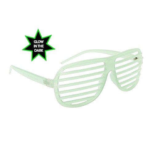 FancyG Shutter Style Party Glass Frame Cool Fashion Eyewear - Glow in the Dark - - Kanye Glasses