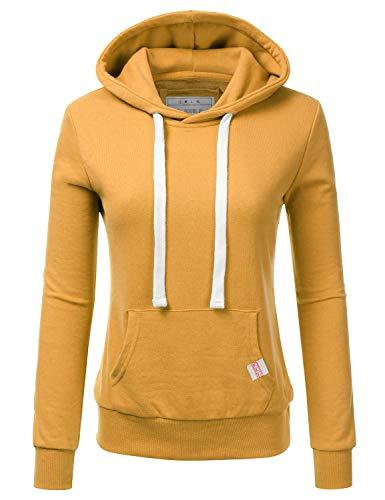 - NINEXIS Womens Long Sleeve Fleece Pullover Hoodie Sweatshirts, Mustard 1X Plus Size