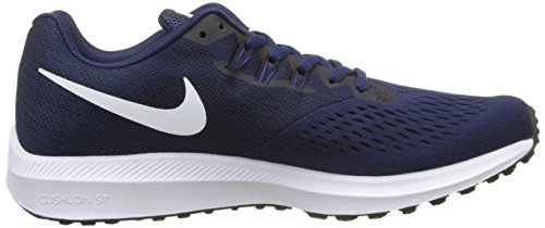 Men's black Nike Winflo Running 4 Blue Shoe White Binary Air Zoom pqvdCqw
