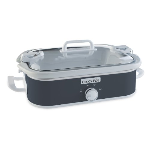 Crock-Pot 3.5-Quart Casserole Crock Manual Slow Cooker, Charcoal (Crock Pot Casserole Slow Cooker)