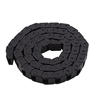 1000mm Long Black Nylon Cable Drag Chain Wire Carrier for 3D Printer CNC Machine Tools (10x10mm, R28) by Walfront