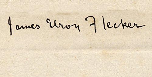 OKSLO James Elroy Flecker 1884-1915 Poet His Signature Canvas Art - Ken Welsh Design ()