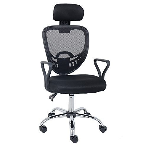 (Wahson Home Executive Office Chair – Improves Posture, Adjustable Height, Tilt, Lumbar and Head Support – Breathable Mesh Fabric Task Chair)