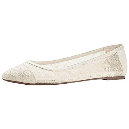 Melissa Sweet Lace Ballet Flat Style Laney, Ivory, 9