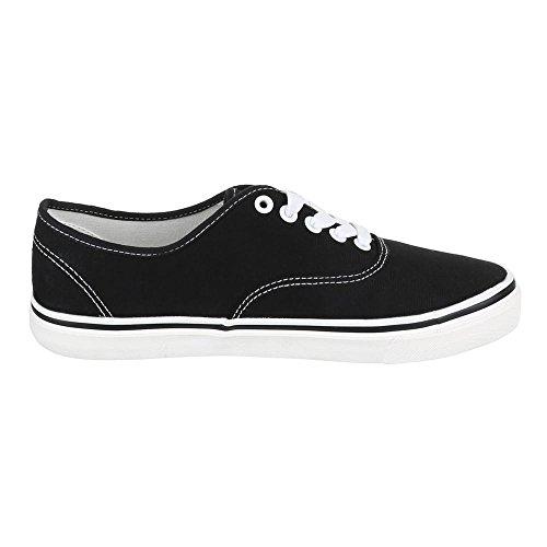 Ital-Design - Zapatillas de tela para hombre Negro - negro
