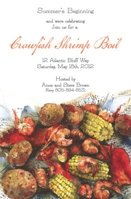 Amazon Frogmore Custom Personalized Clam Bake Invitation By