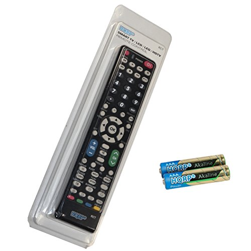 HQRP Remote Control for Sharp LC-32GP1U LC-32GP3U-B LC-32GP3U-R LC-32GP3U-W LC-32L400M LC-32LE700UN LCD LED HD TV Smart 1080p 3D Ultra 4K AQUOS + HQRP Coaster ()