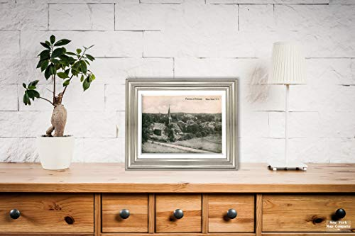 New York Map Company  Panorama of Richmond, Staten Island, N.Y. View from high Ground with St. Andrew's Church, Postcard Vintage Antique Fine Art Reproduction Photo |Size: 9x12|Ready to Frame