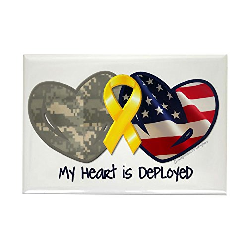CafePress My Heart Is Deployed Rectangle Magnet Rectangle Magnet, 2