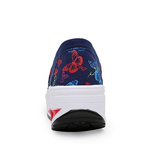 Lz-hd04shenlan40 Enllerviid Kvinnor Halkar På Plattformen Kanfasgymnastikskor Multicolor Forma Fintess Promenadskor Mörkblå 7,5 B (m) Oss