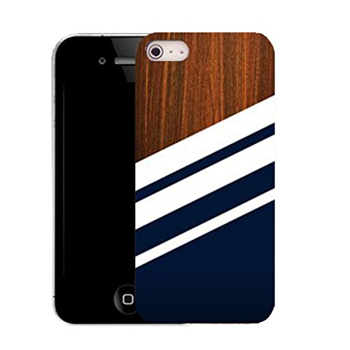 Mobile Case Mate IPhone 5 clip on Silicone Coque couverture case cover Pare-chocs + STYLET - timber stripe pattern (SILICON)