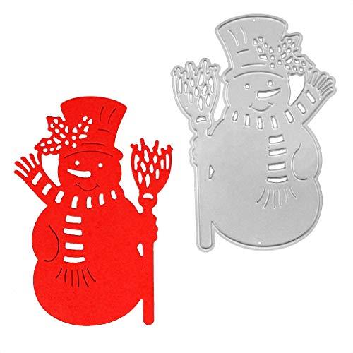 Yajom Christmas Snowman Metal Dies Scrapbooking Metal Cutting Dies Craft Stamps Die Cut Embossing Card