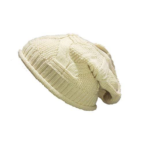 Trendy Slouchy Beanie Hat Unisex Soft Warm Oversized Chunky Knit Thick Cap(J-One Size)