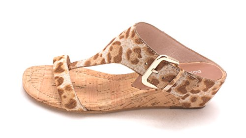 Donald J Pliner Womens LI4-SG Leather Open Toe Casual T-Strap Sandals, Tan/Sand Summer Leopard, 7.0 by Donald J Pliner
