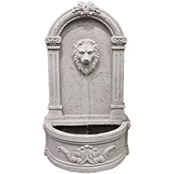 Modern Home Courtyard Lion's Head Wall Mount/Floor Waterfall Fountain