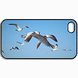 Fashion Unique Design Protective Cellphone Back Cover Case For iPhone 4 4S Case Birds Form Picture Nice Design Black